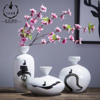 Jingdezhen ceramic vase creative fine expressions using white porcelain office desk furnishing articles home decoration porcelain vase