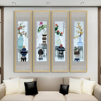 Sofa setting wall decoration painting porch restaurant mural jingdezhen hand - made ceramic porcelain plate painting the living room decoration hangs a picture