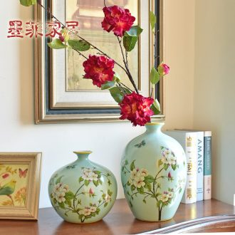 Murphy American country handmade ceramic vases, new Chinese style living room TV cabinet wine cabinet decoration hydroponic flower arranging furnishing articles