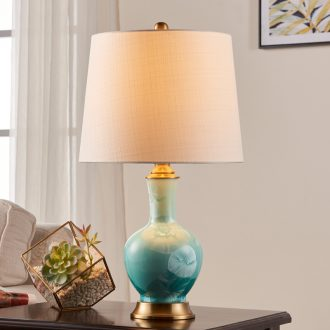 American living room a study ceramic desk lamp I and contracted creative sweet wedding decoration lamps and lanterns of bedroom the head of a bed