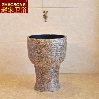 European household ceramics restoring ancient ways conjoined mini basin of mop mop pool balcony floor mop pool small 30 cm