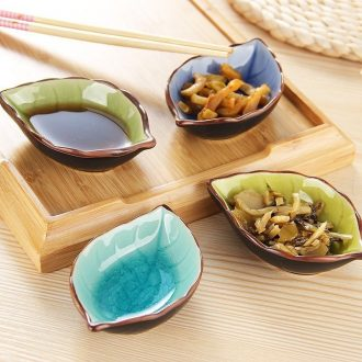 Ceramic creative Japanese snacks flavor dish mini soy sauce vinegar small plate plate household dip bowl touch water pickle