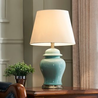 American general bedroom ceramic desk lamp bedside lamp can bedside table lamp I and contracted sitting room creative and romantic