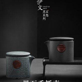 Even Japanese ceramic teapot household contracted hand grasp pot of kung fu tea tea, Japanese single pot filtering pot