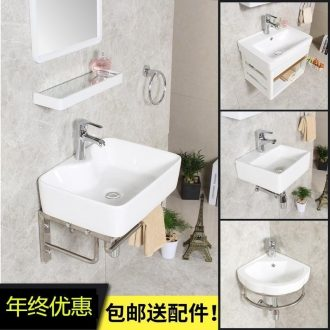 . The Composite basin to wash your hands with small small Yang type of household toilet basin ceramic bracket of mini suits for the hanging wall