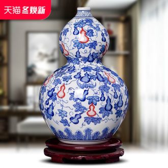 Jingdezhen ceramics hand - made antique Chinese blue and white porcelain vase furnishing articles contracted household act the role ofing is tasted the sitting room of handicraft