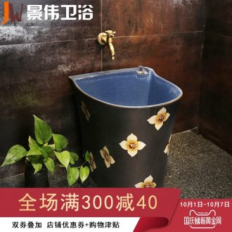 Mop pool ceramic toilet mop pool with large outdoor garden balcony mop pool pool mop basin of the balcony