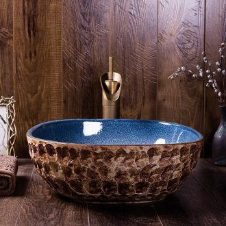 Ceramic sink basin on the square antique Chinese character art hotel home sanitary toilet wash basin