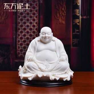 Oriental soil dehua white porcelain Lin Luyang master ceramic its art maitreya D01-504/sit down
