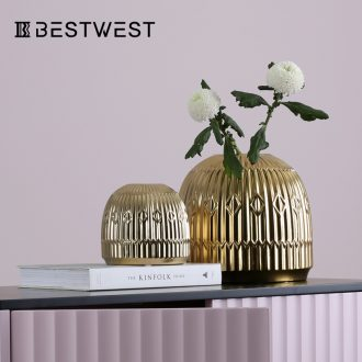 BEST WEST show ceramic vase furnishing articles creative living room hall light soft decoration decoration key-2 luxury hotel