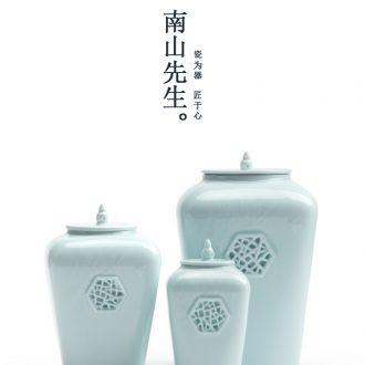 Nanshan Mr Image caddy fixings ceramic household large square store receives the creative multi - purpose seal storage tank