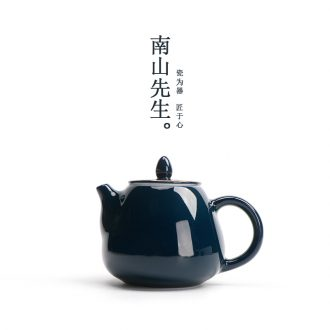 Mr | ji nan shan blue Japanese household teapot creative ceramic teapot kung fu tea set manually filtered single pot