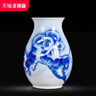 Jingdezhen blue and white ceramics hand - made vases, flower arranging, the sitting room porch ark adornment of Chinese style household furnishing articles