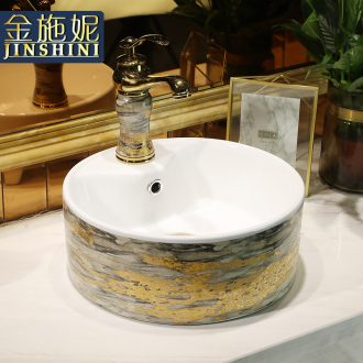 Nordic hotel ceramic heightening the stage basin sink household small circular toilet faucet for wash basin