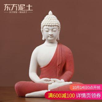Oriental clay ceramic Thai Buddha its handicraft Chinese zen center hotel high - end interior furnishing articles for Buddha