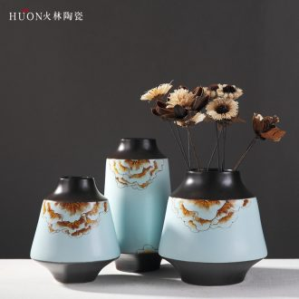 New Chinese style ceramic vase vase furnishing articles Chinese flower arranging dried flowers I and contracted sitting room adornment TV ark