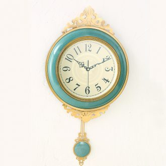 Ceramic metal wall clock fashionable sitting room wall decoration clock atmosphere of creative personality supe home European clock
