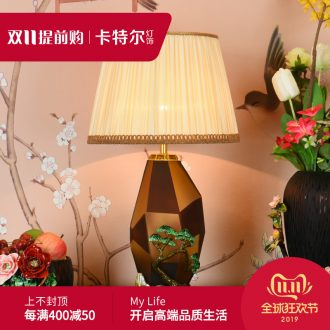 New Chinese style colored enamel porcelain lamp American Europe type restoring ancient ways the sitting room the bedroom villa key-2 luxury decorative lamps and lanterns of the head of a bed