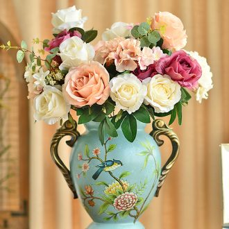 Murphy, American country ceramic vase European living room TV cabinet porch place dry flower art flower arranging device simulation