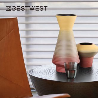 BEST WEST light key-2 luxury furnishing articles designer ceramic vase vase originality example room sitting room soft adornment