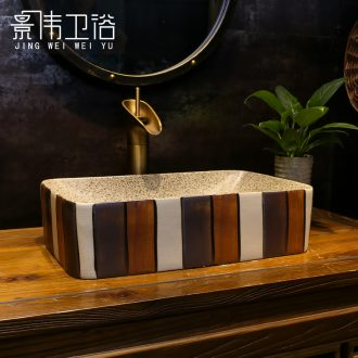 Jingdezhen ceramic stage basin art circle hotel toilet lavatory sink grind arenaceous coloured brick restoring ancient ways