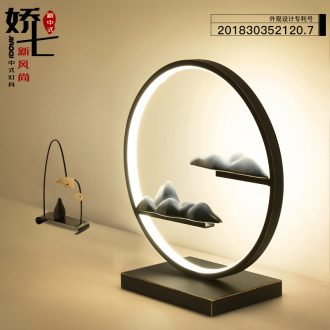 Led Decorative lamp move zen light creative study of bedroom the head of a bed of new Chinese style ceramic lamp