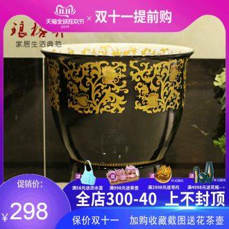 The package mail basin of jingdezhen ceramic art mop mop pool mop sink mandala not gold