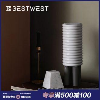 BEST WEST sample room is ceramic vase creative living room large porcelain soft light key-2 luxury decoration decoration