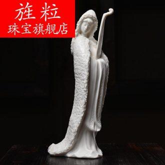Bm dehua ceramic Su Xianzhong master process art beauty fill furnishing articles wang zhaojun D30-31