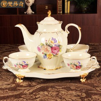 European ceramic coffee coffee cup suit to marry English afternoon tea tea tea cups with tray luxury