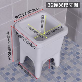 Mini toilet small balcony ceramic mop pool 30 cm floor mop pool small household sewage pool basin