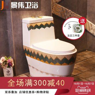 The flush toilet ceramic implement color siphon domestic adult sit lavatory toilet implement that defend bath
