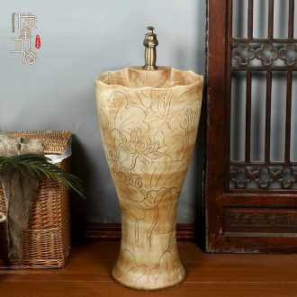 Carving the console home pillar basin sinks one is suing garden ceramic lavabo archaize is suing the balcony