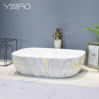 Contracted the Nordic ceramic stage basin sink marble basin of household toilet lavatory European art