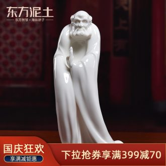 Oriental soil creative Chinese zen ceramic figures laozi furnishing articles household soft adornment ornament/dharma