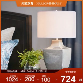Harbor House creative ceramic desk lamp contracted sitting room adornment lamps and lanterns study bedroom berth lamp Square