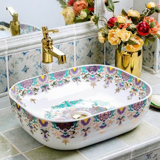 Wash a face to the stage basin sink square ceramic household European art creative sanitary toilet toilet basin that Wash a face