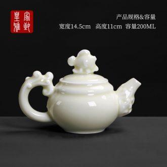Royal elegant celadon pot kung fu tea set household teapot contracted creative move ceramic large single pot