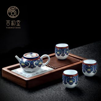 And kung fu tea set # suits for the teapot teacup tea tray was home office of a complete set of ceramic Japanese small gift box