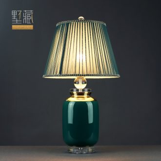 Light and decoration lamp lamp decoration art ceramic desk lamp of bedroom the head of a bed I and contracted sitting room lamps and lanterns of crystalline Light furnishing articles