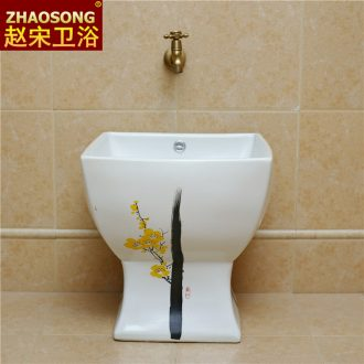 Contracted Europe type ceramic conjoined square mop pool large basin of the balcony floor mop mop pool toilet tank pool