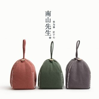 Mr Nan shan fengling ceramic tea set to receive the cloth bags of Japanese cotton and linen tea accessories portable luggage bags