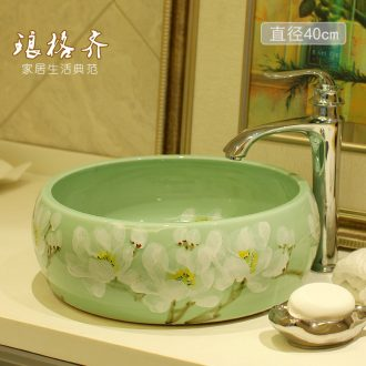The stage basin on The ceramic lavabo lavatory toilet basin round basin, art basin to wash gargle