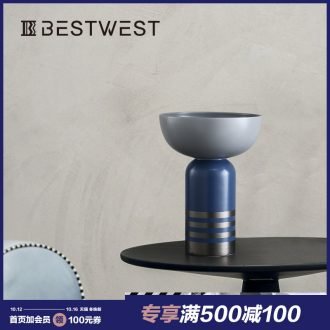 BEST WEST designer large ceramic vase model room light soft decoration decoration key-2 luxury furnishing articles ideas