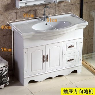 Sink to the ground sinks ano waterproof hand basin that wash bath type European - style combination pool ceramic lavabo u.s