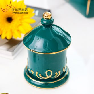 European ceramic toothpicks extinguishers individuality creative fashion household toothpick box of toothpicks can swab box to receive and the living room