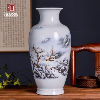 Jingdezhen ceramics new Chinese contemporary household living room TV cabinet table porch decoration vase furnishing articles