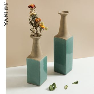 Vase American country ceramic restoring ancient ways, the adornment that occupy the home furnishing articles sitting room porch example room dry flower flower Vase