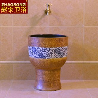Jingdezhen retro conjoined trumpet mop pool toilet miniature mop pool northern wind mop pool trough the balcony