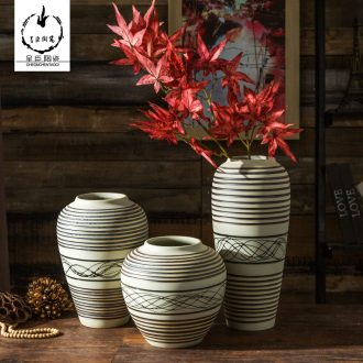 Jingdezhen porcelain vase I and contracted vase furnishing articles sitting room flower arranging dry ceramic vases, new home decoration of new Chinese style